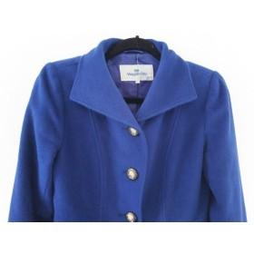 【中古】 ビアッジョブルー Viaggio Blu コート サイズ1 S レディース 美品 ブルー 冬物
