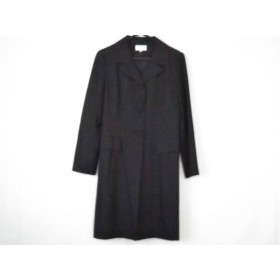 【中古】 エムズグレイシー M'S GRACY ワンピーススーツ サイズ11 M レディース 黒 ロングジャケット/ラメ