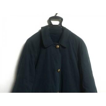 【中古】 バーバリーズ Burberry's コート レディース ダークネイビー イエロー 冬物