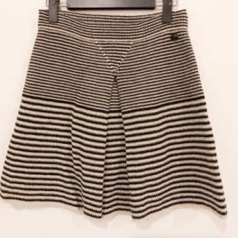 【中古】シャネル CHANEL スカート サイズ36 S レディース 黒xベージュ