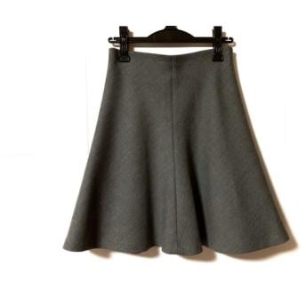 【中古】 ニジュウサンク 23区 スカート サイズ38 M レディース グレー Vingt-trois arrondissements
