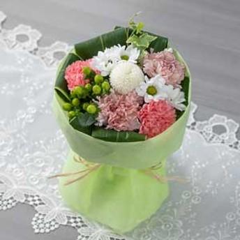 【故人を偲ぶ、お悔みの花】花束「優美花(そのまま飾れるお悔み花束)桜色重ね」