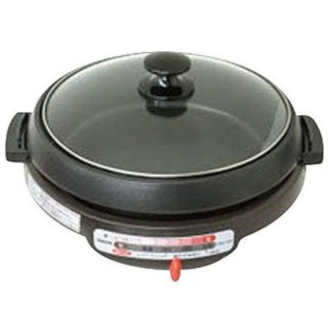 電気グリル鍋 (深なべ・波型プレート付) YAMAZEN(山善) GNW-1300(T)