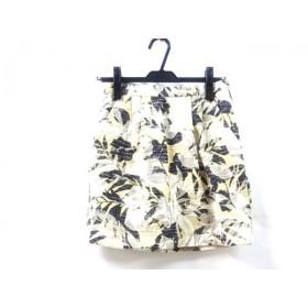 【中古】 ノーブランド ミニスカート サイズ36 S レディース アイボリー マルチ