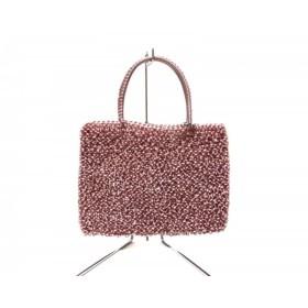【中古】 アンテプリマ ハンドバッグ 美品 ワイヤーバッグ BGS046057 ピンク ミニサイズ ワイヤー