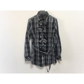 【中古】ナラカミーチェ チュニック レディース 黒xグレーx白 チェック柄/フリル/シャツワンピ