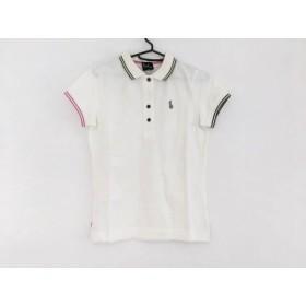 【中古】 ポールスミスプラス 半袖ポロシャツ サイズM レディース 美品 白 ダークグリーン ピンク