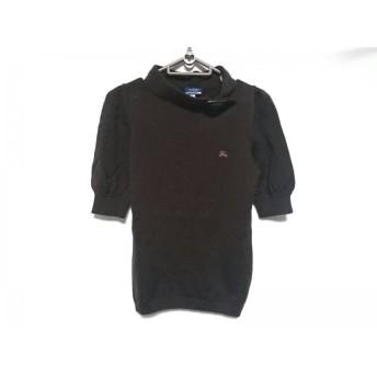 【中古】 バーバリーブルーレーベル セーター サイズ38 M レディース ダークブラウン 五分袖