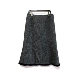 【中古】 エポカ EPOCA スカート サイズ38 M レディース 黒 白