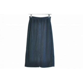 【中古】 イタリヤ 伊太利屋/GKITALIYA ロングスカート サイズ9 M レディース 黒 ウエストゴム