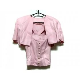【中古】 ミスアシダ miss ashida スカートスーツ サイズ7 S レディース ピンク