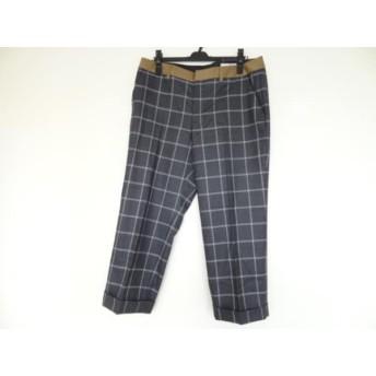 【中古】 ジユウク 自由区/jiyuku パンツ サイズ48 XL レディース 美品 ダークグレー マルチ チェック柄