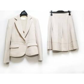 【中古】 ナチュラルビューティー NATURAL BEAUTY スカートスーツ サイズ36 S レディース 美品 ベージュ