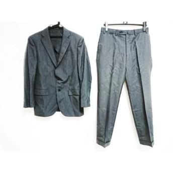 【中古】 ヒルトンタイム シングルスーツ サイズ90A4 メンズ ダークグレー グレー シングル/ストライプ