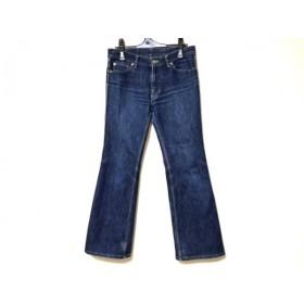 【中古】 ビースリー ジーンズ サイズ34 S レディース ネイビー ダメージ加工/Jeans/ストレッチ素材