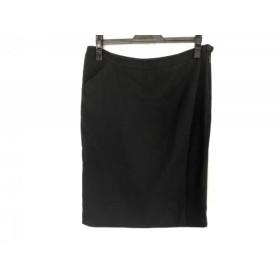 【中古】 アルマーニコレッツォーニ ARMANICOLLEZIONI スカート サイズ44 L レディース 黒