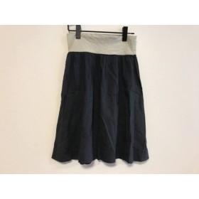 【中古】 セオリー theory スカート サイズ2 S レディース ダークネイビー 白 黒