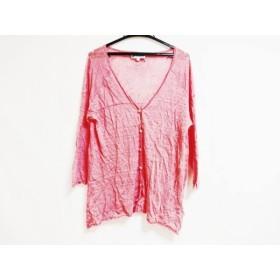 【中古】 ホコモモラ JOCOMOMOLA カーディガン サイズ40 XL レディース ピンク