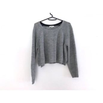 【中古】 オープニングセレモニー OPENING CEREMONY 長袖セーター サイズM レディース グレー ショート丈