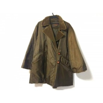 【中古】 ペニーブラック PENNYBLACK コート サイズ40 M レディース ダークブラウン 冬物