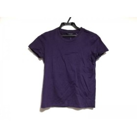 【中古】 バーバリーロンドン Burberry LONDON 半袖Tシャツ サイズ1 S レディース パープル 刺繍