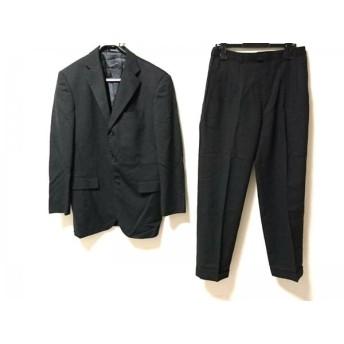 【中古】 ゴタイリク 五大陸/gotairiku シングルスーツ メンズ 黒 ネーム刺繍