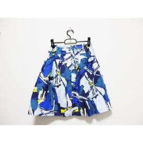 【中古】 スタニングルアー STUNNING LURE スカート サイズ0 XS レディース ブルー マルチ