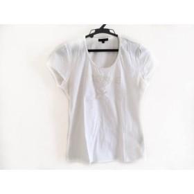 【中古】 トゥービーシック TO BE CHIC 半袖Tシャツ サイズ2 M レディース 白 スパンコール/ハート