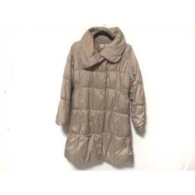 【中古】 ギャラリービスコンティ ダウンコート サイズ2 M レディース ピンク 冬物/リボン