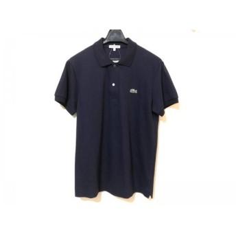 【中古】 ラコステ Lacoste 半袖ポロシャツ サイズ44 M メンズ ダークネイビー