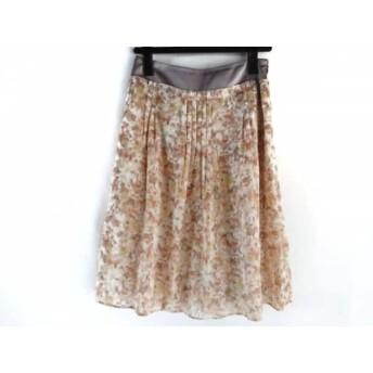 【中古】 ジユウク 自由区/jiyuku スカート サイズ36 S レディース オレンジ イエロー マルチ 花柄