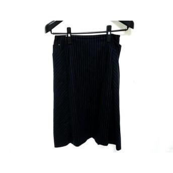 【中古】 トゥモローランド スカート サイズ36 S レディース ダークネイビー グレー ストライプ