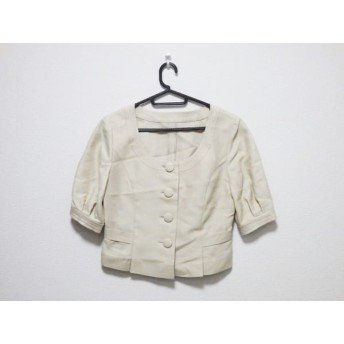 【中古】 ヴァンドゥ オクトーブル 22OCTOBRE ジャケット サイズ38 M レディース 美品 ベージュ