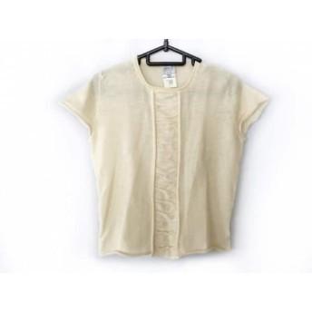 【中古】 アルマーニコレッツォーニ ARMANICOLLEZIONI 半袖セーター サイズ40 M レディース アイボリー