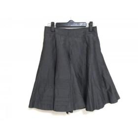 【中古】 ボディドレッシングデラックス スカート サイズ36 S レディース ダークグレー プリーツ