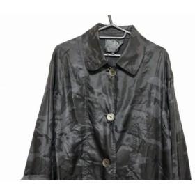 【中古】 ダブリュービー コート サイズ38 M レディース 美品 黒 ダークグレー REVISION/春・秋物/迷彩柄