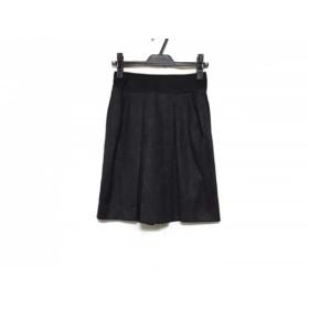 【中古】 フラジール FRAGILE スカート サイズ34 S レディース ダークグレー 黒 ラメ/プリーツ