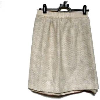 【中古】 ジャスグリッティー JUSGLITTY スカート サイズ2 M レディース ベージュ ピンク リバーシブル
