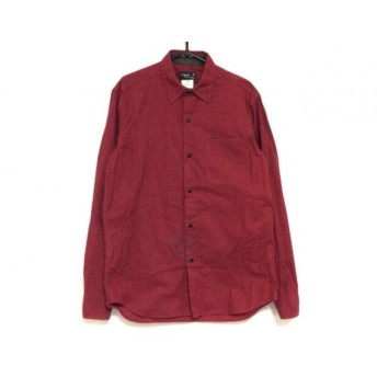 【中古】 アニエスベー agnes b 長袖シャツ サイズ38 S メンズ レッド ダークブラウン