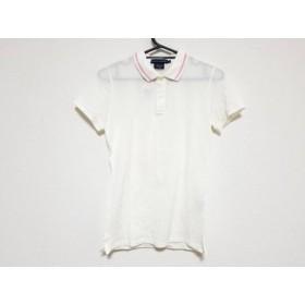 【中古】 ラルフローレン RalphLauren 半袖ポロシャツ サイズS レディース アイボリー ピンク