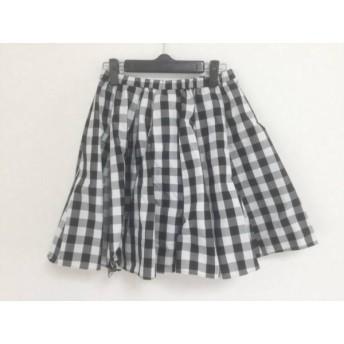 【中古】 フレイアイディー FRAY I.D スカート サイズ0 XS レディース 黒 白 チェック柄