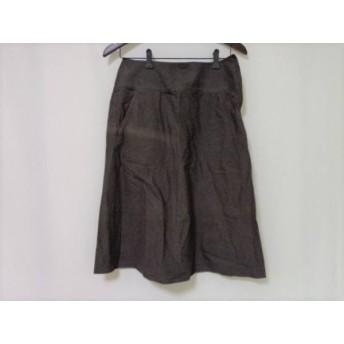 【中古】 プランテーション Plantation スカート サイズS レディース ダークブラウン