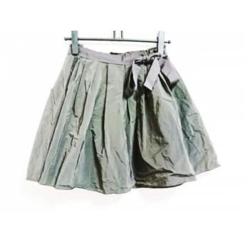 【中古】 ランバンオンブルー LANVIN en Bleu スカート サイズ36 S レディース ダークブラウン