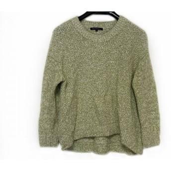 【中古】 ニジュウサンク 23区 長袖セーター サイズ32 XS レディース 美品 グリーン 白