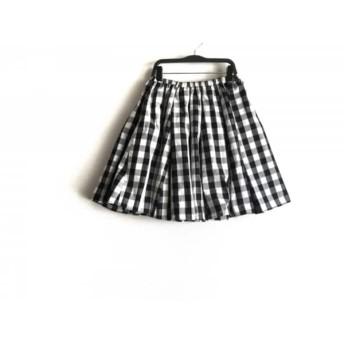 【中古】 フレイアイディー FRAY I.D スカート サイズ0 XS レディース 黒 白