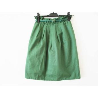 【中古】 ジャスグリッティー JUSGLITTY スカート サイズ0 XS レディース グリーン