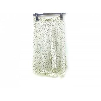 【中古】 ツモリチサト TSUMORI CHISATO スカート サイズ2 M レディース アイボリー カーキ ドット柄