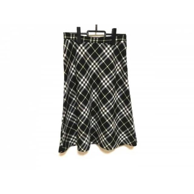 【中古】 バーバリーロンドン スカート サイズ40 L レディース ダークネイビー イエロー アイボリー