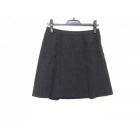 【中古】 ミッシェルクラン MICHELKLEIN スカート サイズ42 L レディース ダークネイビー