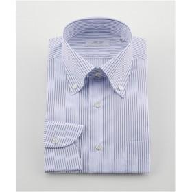 [シャツ]ダブルエイチ ドレスシャツ HH8S-B-024 ネイビーストライプ 38-84